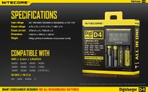 Máy Sạc Pin Đa Năng LCD Nitecore D4