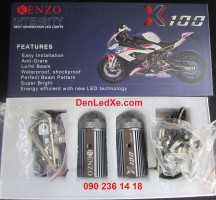 Kenzo X100 Bi Cầu Led Mini Trợ Sáng 2020